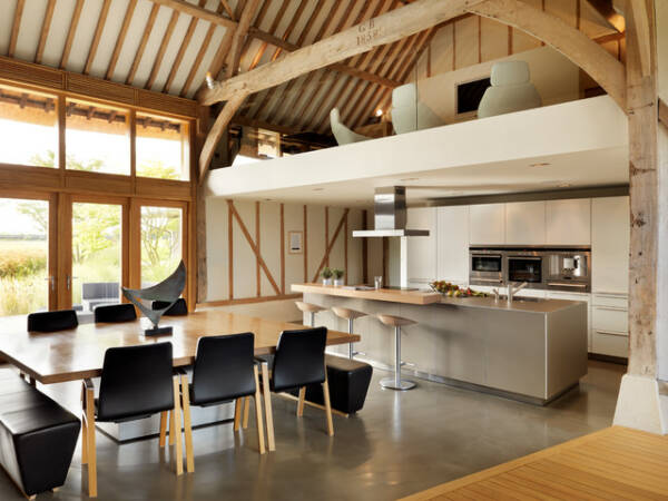 modern barn conversion kitchen interior